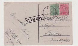 Zegel OC 65 Op Postkaart Aachen - Stamped Stationery
