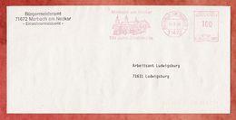 Brief, Francotyp-Postalia B24-2883, Marbach Am Neckar 700 Jahre Stadtrechte, 100 Pfg, 1995 (96099) - Machine Stamps (ATM)