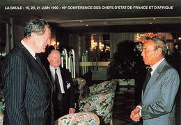 LA BAULE - JUIN 1990 - 16EME CONFERENCE DES CHEFS D ETAT DE FRANCE ET D AFRIQUE - OLIVIER GUICHARD ET LE ROI HASSAN II - La Baule-Escoublac