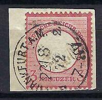 ALLEMAGNE 1872: Le Y&T 9 Obl. CAD Sur Fragment - Used Stamps