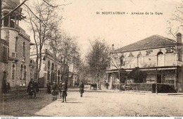 D82  MONTAUBAN  Avenue De La Gare - Montauban