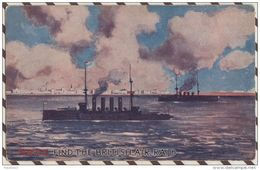 4AF1108 ILLUSTRATEUR (propagande) PUZZLE FIND THE BRITISH AIR RAID 2 SCANS - Künstlerkarten