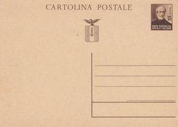 REGNO- ITALIA - REPUBBLICA SOCIALE - INTERO POSTALE CENT. 30 GIUSEPPE MAZZINI NON VIAGGIATO - 4. 1944-45 Repubblica Sociale