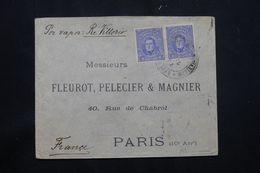 """URUGUAY - Enveloppe Par Bateau """" Ré Vittorio """" Pour La France En 1915 - L 65324 - Uruguay"""