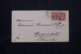NORVÈGE - Enveloppe De Hamar Pour La France En 1892 - L 65328 - Briefe U. Dokumente