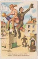 Illustrateur Chaperon Jean - Humour - Pin Up - La Quille !- Militaire - Militaria - - Humoristiques