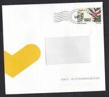 Netherlands: Cover, 2020, 1 Cinderella Stamp Postage Paid PostNL, Issued For Hallmark, Flower (minor Damage At Back) - Periodo 2013-... (Willem-Alexander)