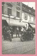 68 - COLMAR - Carte Photo - 10 Rue Stanislas - Moto - Motorrad - Magasin DONATH - Voir état - Colmar