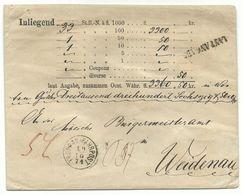 """Troppau Opava Fahrpost-Wert-Brief 1874 über 3360 Gulden """"laut Angabe"""" Nach Weidenau - 1850-1918 Empire"""
