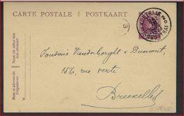 PERFIN / Geperforeerde (  ( B . C. ) Van BANQUE DE COURTRAI ) Postkaart Van HOUYOUX  ; Staat Zie 3 Scans  ! LOT 120/8 - Perfins