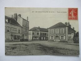 RARE CPA CP 78 YVELINES 1918 LES ESSARTS LE ROI Place Principale  ED Lagrange RAMBOUILLET TBE - Les Essarts Le Roi