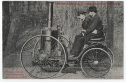 """AUTOMOBILE """" LES ANCETRES AUX USINES DE DION BOUTON - PREMIER VEHICULE AVEC TRANSMISSION PAR COURROIE EN 1883  -z R/V Z- - Voitures De Tourisme"""