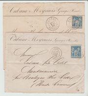 HERAULT : GANGES, CàD Types 18 & A2 / 2 LSC De 1889 & 90 - Marcophilie (Lettres)