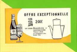 BUVARD  & Blotting Paper :Cafetiere Filtre Biere ROSSBRAU - Liqueur & Bière
