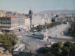 Carte Postale Vue Aérienne De Clermont-Ferrand, La Place De Jaude, Cachet De La Poste De Clermont-Ferrand 29 Mai 1962 - Clermont Ferrand