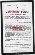Oorlog Guerre Albert Renier Wervik  Soldaat Gesneuveld Te Kaaskerke 12 Mei 1915 Diksmuide - Devotieprenten