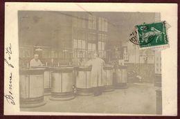 Carte Photo Ancienne Intérieur D' Usine , Atelier ? Entreprise ? Carte Postée De La Croix Rousse ( Lyon )  à Identifier - Postales