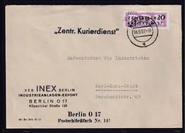 DDR. ZKD-Brief Mit . EF. Dienst B. Mi.-Nr. 11 / 1601 - Official