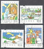 Poland 1997 Christmas - Mi 3682-85 - Used Gestempelt - Used Stamps