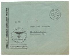 """Troppau Opava Feldpost-Brief """"Regierungspräsident Troppau"""" 1941 - Sudetenland"""