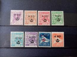 ALGERIE. 1937 . N°58 à 67.  8 NEUFS++. Côte Yvert 16,00 € - Algérie (1924-1962)