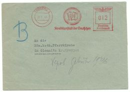 """Troppau Opava Firmen-Brief Freistempler """"Kreditanstalt Der Deutschen"""" 1943 - Sudeti"""