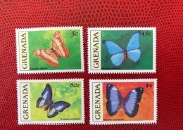 Grenada Grenadines 1990 4 V Neuf ** MNH 1971 A 1974 Farfalle Papillons Butterflies Mariposas Schmetterlinge - Farfalle