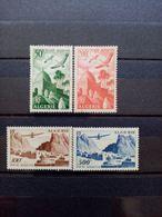 ALGERIE. 1949 à 1953. Poste Aérienne N° 9 à 12 .  4 NEUFS++. Côte Yvert 50,00 € - Posta Aerea