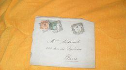 ENVELOPPE ANCIENNE DE 1901../ ITALIE SANTA MARIA MAGGIORE POUR PARIS..CACHETS + TIMBRES X2 - Poststempel