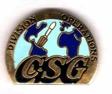 Pin's Centre Spatial Guyanais CSG Division Opérations EGF Vector - Space