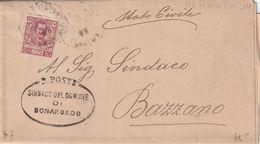 Bonarcado. 1905. Annullo Di Collettoria Ottagonale BUONARCADO (CAGLIARI) + Ovale SINDACO ., Su Lettera Completa Di Testo - Marcophilie