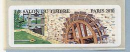 2010 LISA 1  VIGNETTE VIERGE Salon Du Timbre àParis - 2010-... Illustrated Franking Labels
