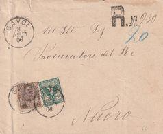 Gavoi. 1906. Annullo Grande Cerchio GAVOI, Su Lettera Raccomandata. BELLA AFFRANCATURA. - Marcophilie
