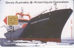 Télécarte 50U, Tirage 1500, Le Marion Dufresne II - TAAF - Terres Australes Antarctiques Françaises