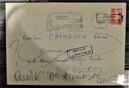 07 - 20 - Lettre De Castres - Griffes Retour à L'envoyeur Sur Marianne Du Bicentenaire - France