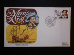 GREAT BRITAIN SG  1187 HENRY VIII & MARY ROSE  PORTSMOUTH THE MARY ROSE TRUST FDC - Sin Clasificación
