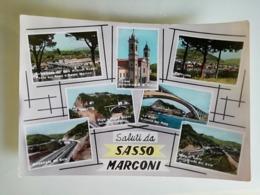 3 - CARTOLINA SALUTI DA SASSO MARCONI - Italy