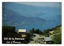 74 Le Col De La Forclaz De Montmin Et Le Lac D'Annecy En 1982 Voitures VOIR DOS - Annecy