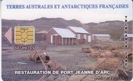 Télécarte 50U, Tirage 3000, Restauration De Port Jeanne D'Arc - TAAF - Terres Australes Antarctiques Françaises