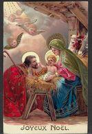 """Joyeux Noel"":   Nativité. Illustration  11064 Gel, 11065 Gel Brillant. - Andere"