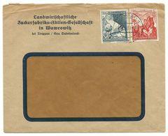 """Troppau Opava Firmen-Brief """"Zuckerfabrik Wawrowitz"""" 1943 - Sudeti"""