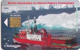Télécarte 50U, Tirage 3000, L'Astrolabe (navire Brise Glaces, Ravitailleur De La Base Dumont D'Urville) - TAAF - Terres Australes Antarctiques Françaises