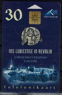 ESTONIA 1998 PHONECARD IUS LUBICENSE IN REVALIA USED VF!! - Estonia