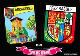 ARCANGUES (63) - Cp Autocollante, écussons Adhésifs - Blason Héraldique Pays Basque «CRÉATIONS OLBIDÉCOR» ♥ - France
