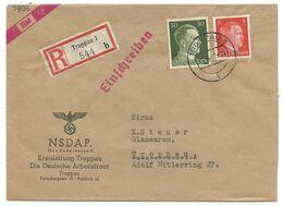 Troppau Opava Orts-R-Brief NSDAP Kreisleitung Troppau 1942 - Sudetenland