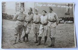 Carte Photo 5 Soldats Camp De Bitche 20 Mai 1939 En Villégiature 139 Sur Col 139 RIF ? - Oorlog, Militair