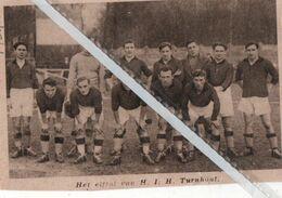 VOETBALSPORT..1934.. HET ELFTAL VAN H.I.H.  TURNHOUT - Non Classés