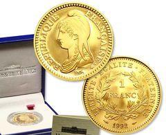 FRANCE 1 Franc République 1992 OR PL  Etat Sup Edition Limitée GARANTIE AUTHENTIQUE PRIX DEPART 1 EURO - Oro