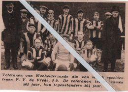 VOETBALSPORT..1934.. VETERANEN VAN WECHELDERZANDE - Alte Papiere