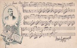 MUSIQUE MUSICIEN PARTITION. CARTE POSTALE CIRCA 1900's NON CIRCULEE -LILHU - Music And Musicians